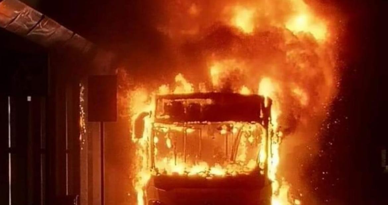 Περιστέρι,φωτιά σε λεοφωρείο